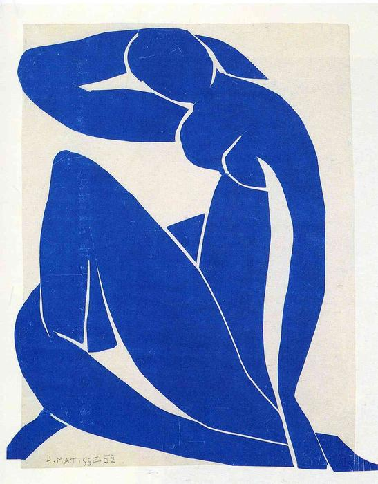 Buy Museum Art Reproductions : Blue Nude by Henri Matisse | AllPaintingsStore.com
