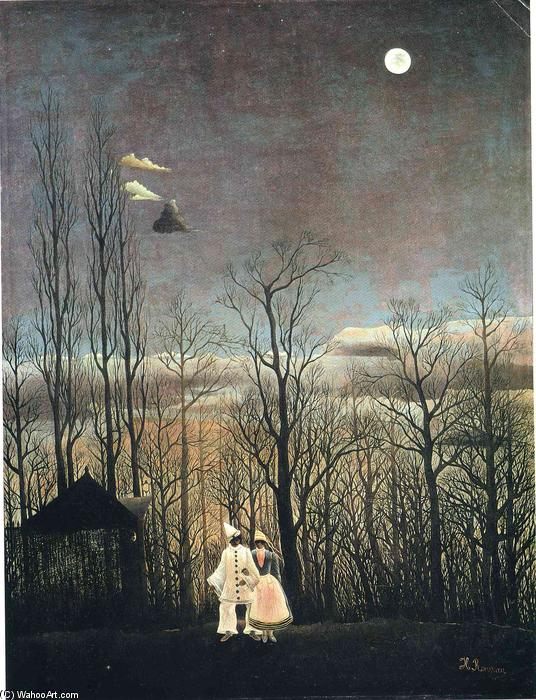 Buy Museum Art Reproductions | Carnival Evening by Henri Julien Félix Rousseau (Le Douanier) | AllPaintingsStore.com