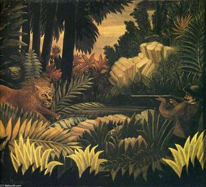 Henri Julien Félix Rousseau (Le Douanier) - The Lion Hunter