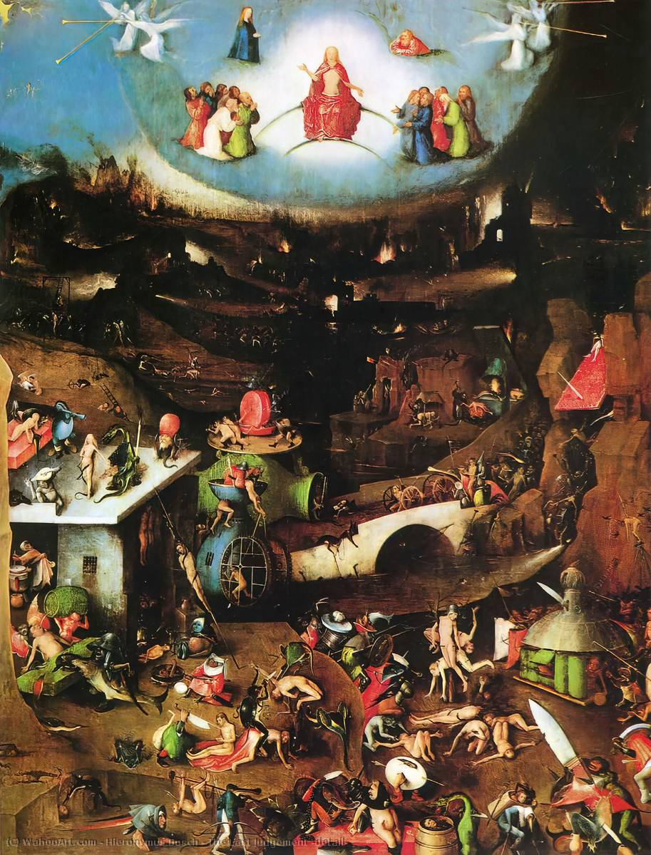 famous painting The Last Judgement (detail) of Hieronymus Bosch