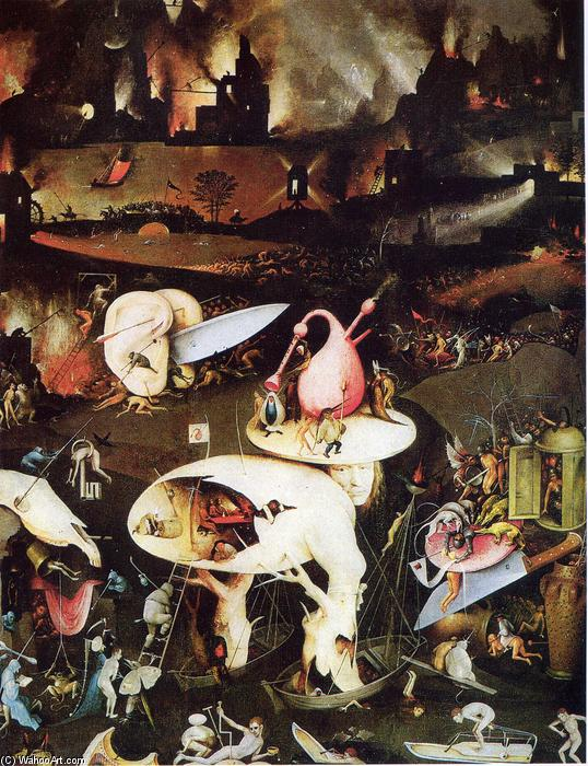 famous painting The Garden of Earthly Delights (detail) of Hieronymus Bosch