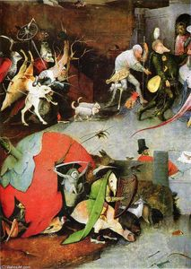 Hieronymus Bosch - Temptation of St. Anthony (detail)