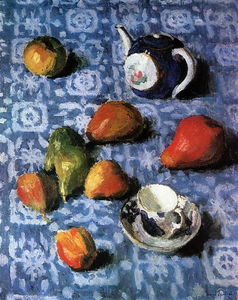 Igor Emmanuilovich Grabar - Pears on a Blue Tablecloth