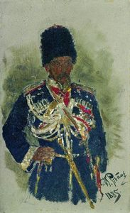 Ilya Yefimovich Repin - General in the form of royal guards. P.A. Cherevin.