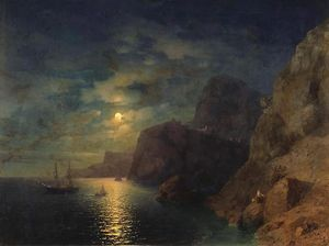 Ivan Aivazovsky - Sea at night
