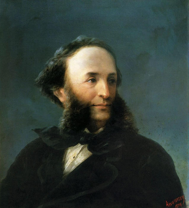 famous painting Self-portrait of Ivan Aivazovsky