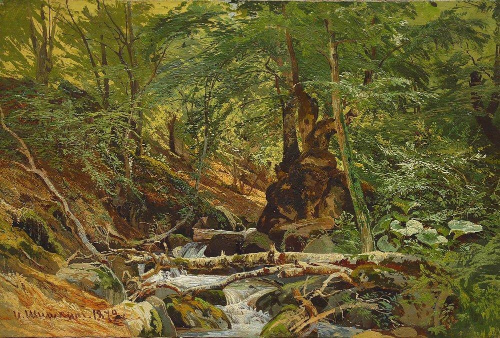 famous painting Forest Landscape of Ivan Ivanovich Shishkin