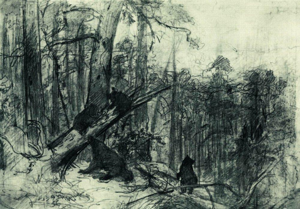 Order Reproductions | Morning in a Pine Forest by Ivan Ivanovich Shishkin | AllPaintingsStore.com