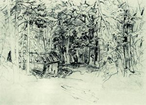 Ivan Ivanovich Shishkin - Sketch of the painting in 1898