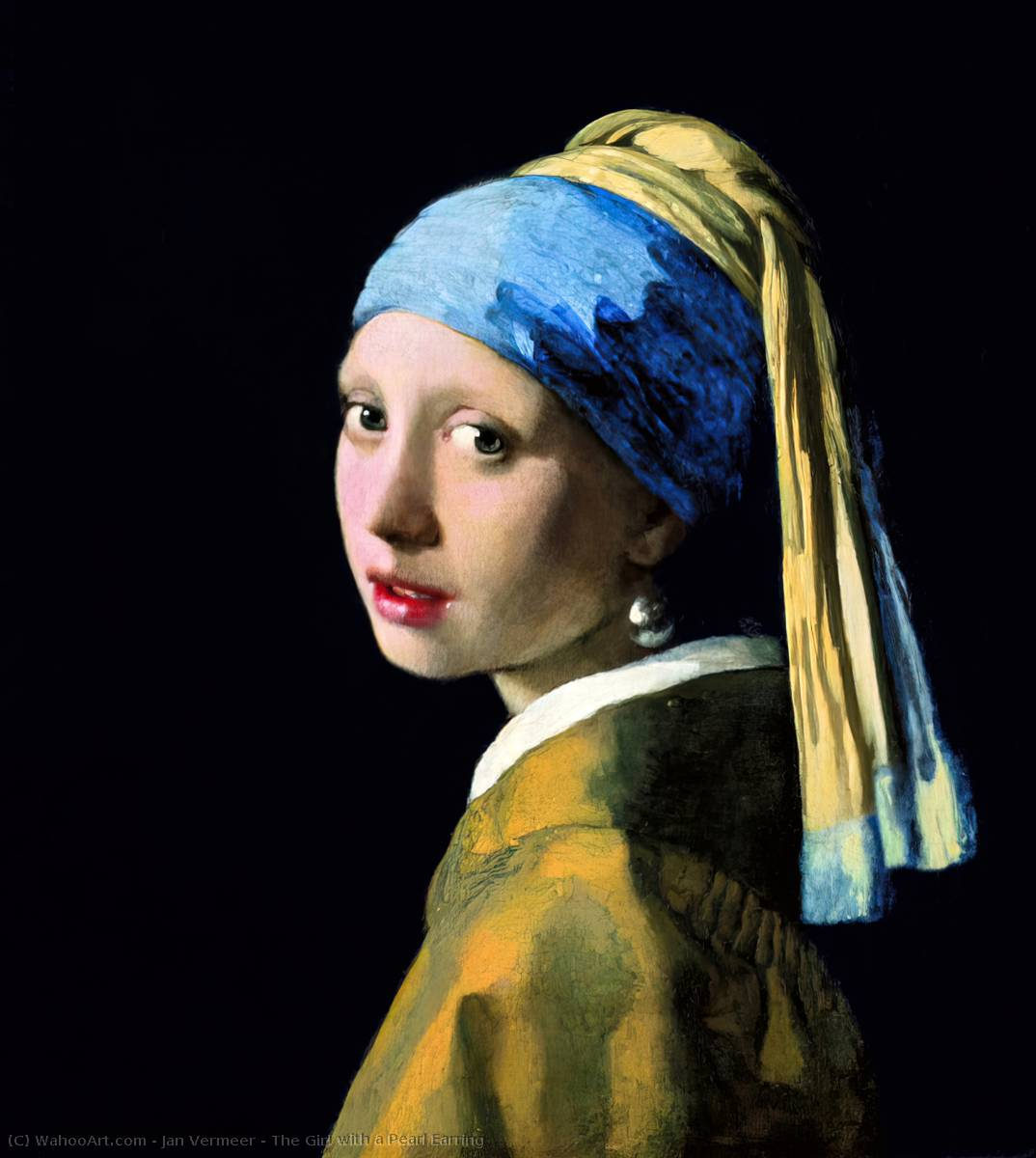 Order Oil Painting : The Girl with a Pearl Earring by Jan Vermeer | AllPaintingsStore.com