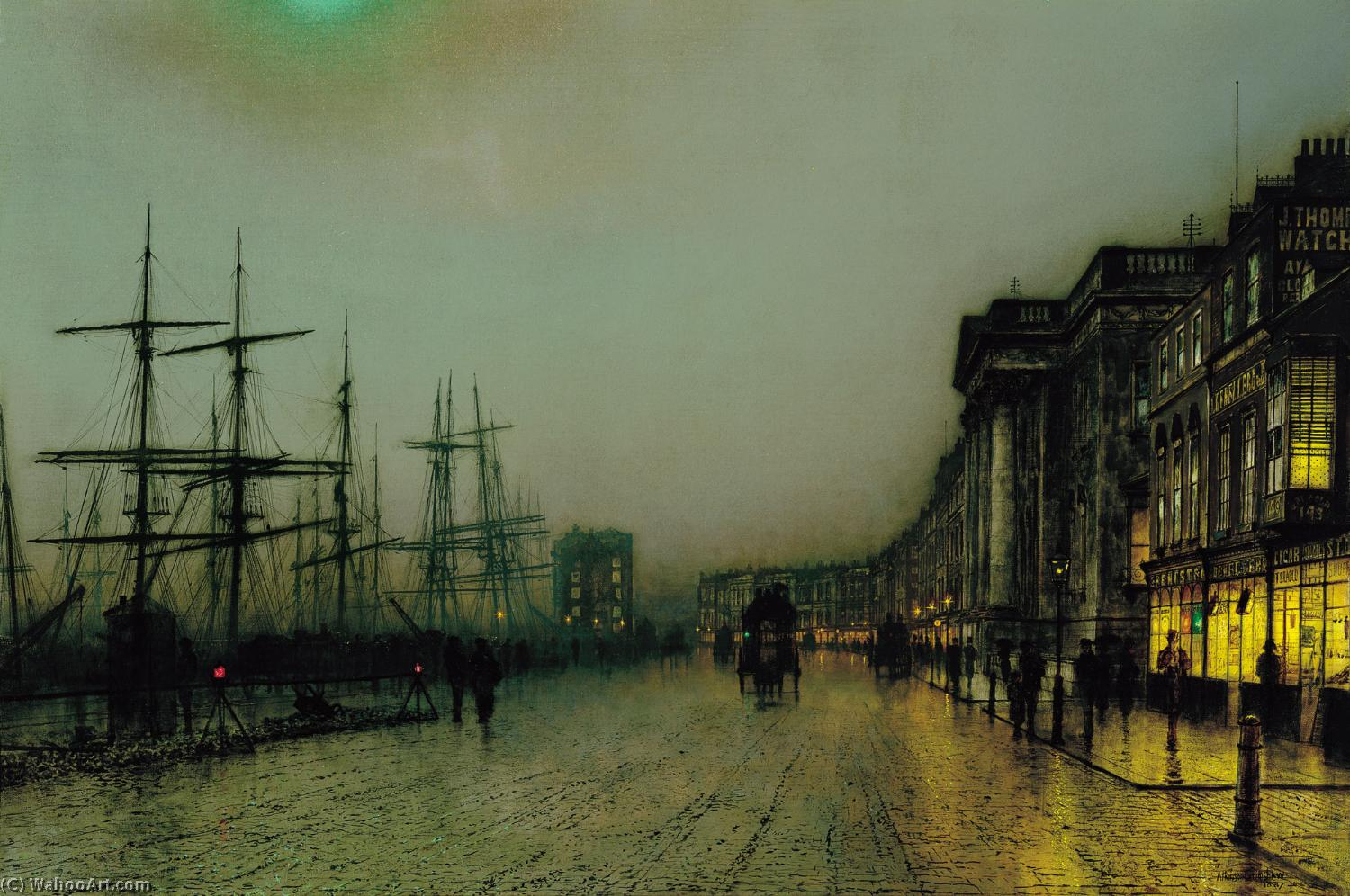 famous painting Canny Glasgow of John Atkinson Grimshaw