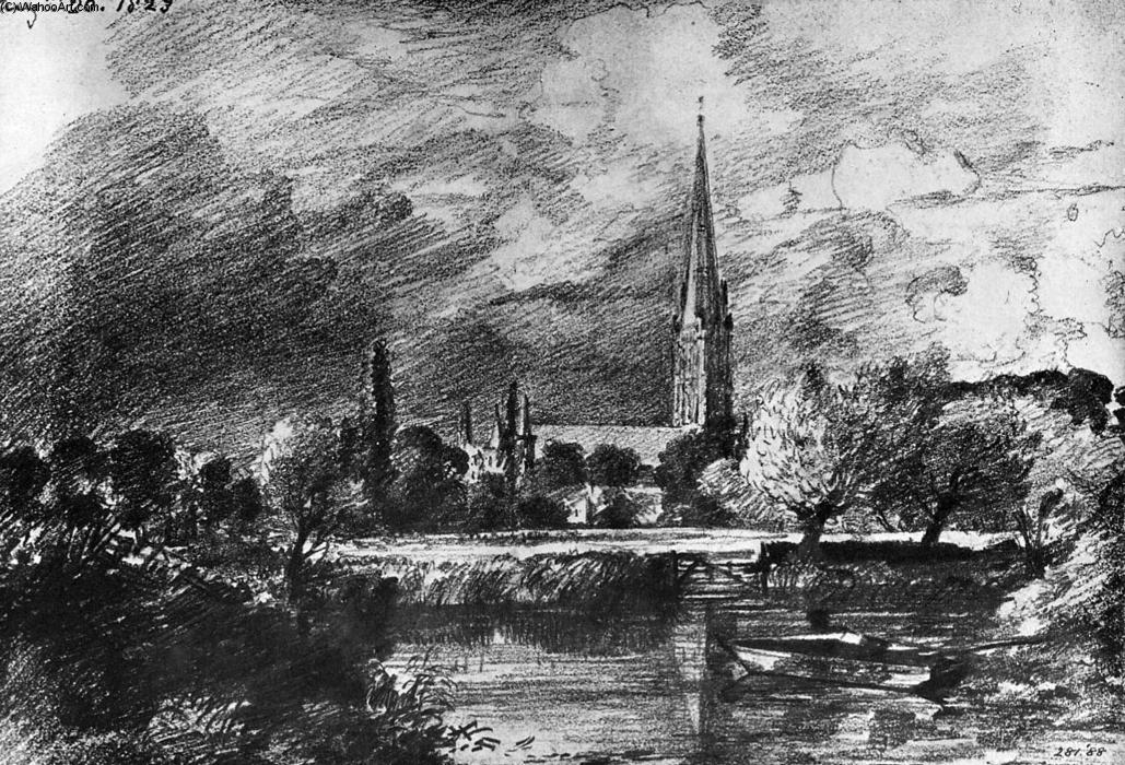 famous painting Salisbury cathedral of John Constable