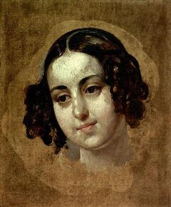 Karl Pavlovich Bryullov - Head a girl