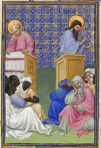 Limbourg Brothers - David Foresees the Preaching of the Apostles
