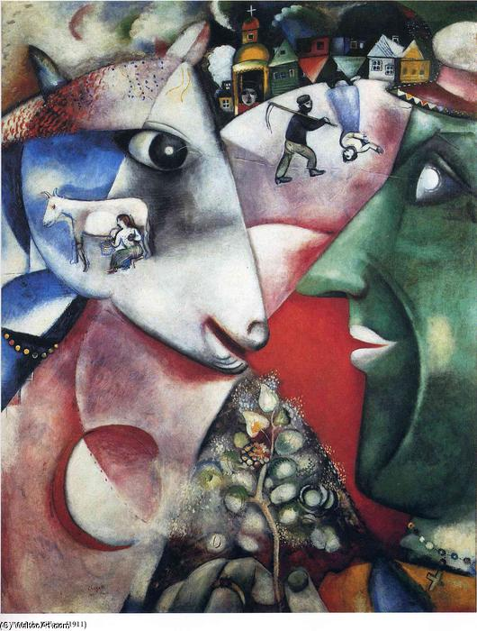 | I and the Village by Marc Chagall | AllPaintingsStore.com