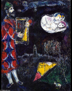 Marc Chagall - King David's Tower