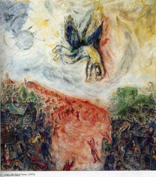 famous painting The Fall of Icarus of Marc Chagall
