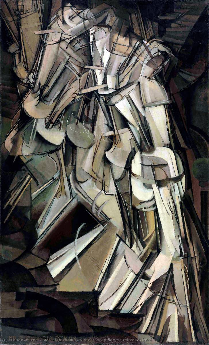 | Nude Descending a Staircase, No.2 by Marcel Duchamp | AllPaintingsStore.com