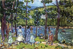 Maurice Brazil Prendergast - Girls on the Riverbank