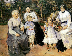 Max Slevogt - Slevogt family in the garden of Godramstein