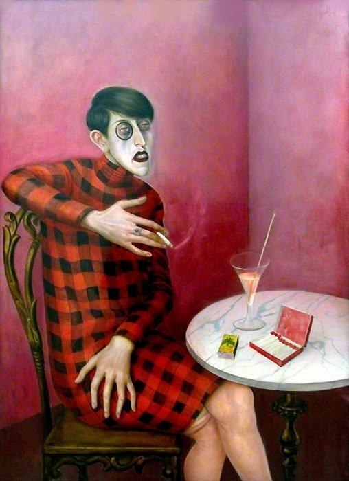 famous painting Portrait of the Journalist Sylvia Von Harden of Otto Dix