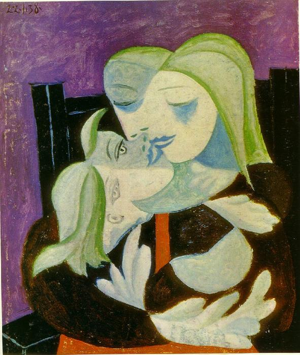 famous painting Mother and child (Marie-Therese and Maya) of Pablo Picasso