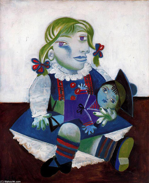 famous painting Portrait of Maya with her doll of Pablo Picasso