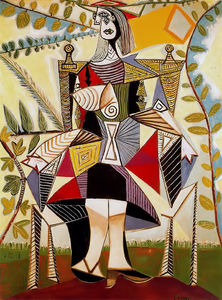 Pablo Picasso - Seated woman in garden