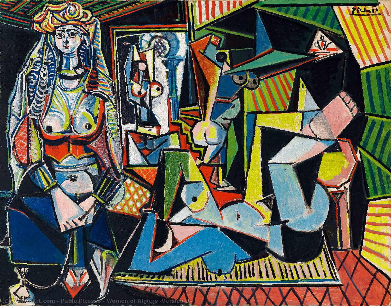 | Women of Algiers (Version O) by Pablo Picasso | AllPaintingsStore.com