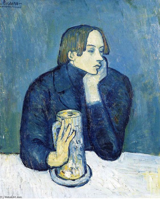 famous painting Portrait of Jaime Sabartes (The bock) of Pablo Picasso