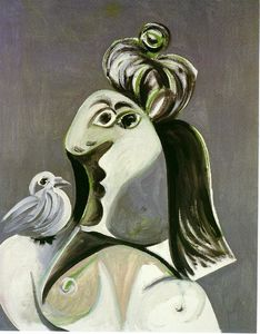 Pablo Picasso - Woman with bird