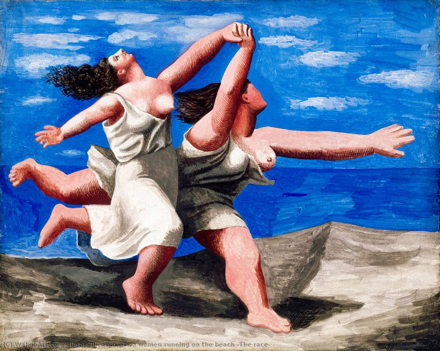 famous painting Two women running on the beach (The race) of Pablo Picasso