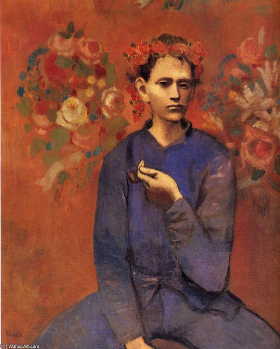famous painting A boy with pipe of Pablo Picasso