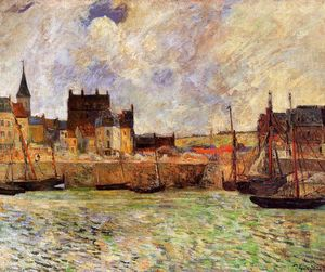 Paul Gauguin - Harbour Scene, Dieppe
