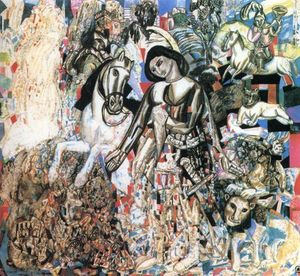 Pavel Filonov - Untitled (St. George the Victorious)