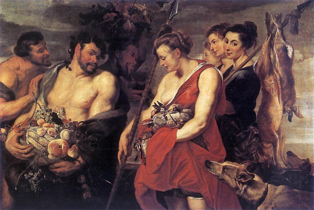 famous painting Diana Presentig the Catch to Pan of Peter Paul Rubens