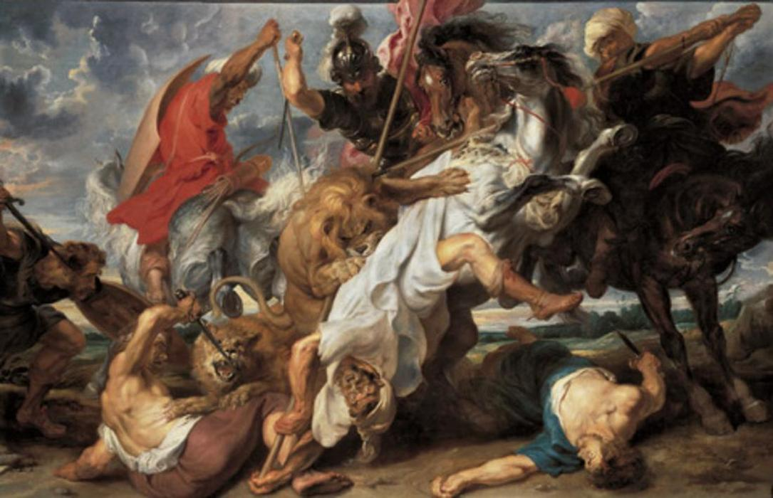 famous painting The Lion Hunt of Peter Paul Rubens