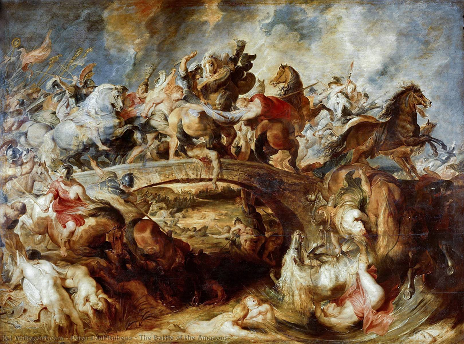 Order Oil Painting : The Battle of the Amazons by Peter Paul Rubens | AllPaintingsStore.com