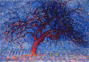 Piet Mondrian - Avond (Evening): The Red Tree
