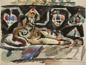 Pyotr Konchalovsky - The Model on the carpet