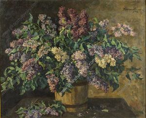 Pyotr Konchalovsky - Still Life. Lilacs in the tub.