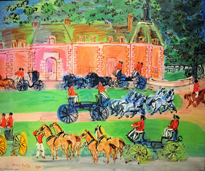 Raoul Dufy - Chateau and Horses