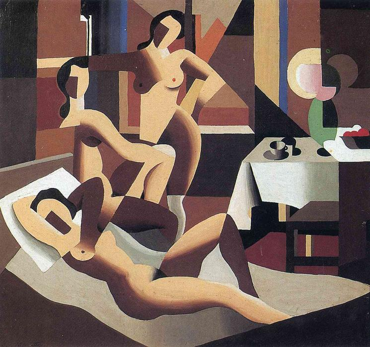 famous painting Three nudes in an interior of Rene Magritte