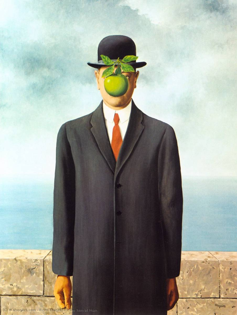 Order Art Reproductions : The Son of Man by Rene Magritte | AllPaintingsStore.com
