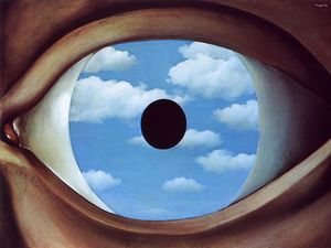 Rene Magritte - The false mirror