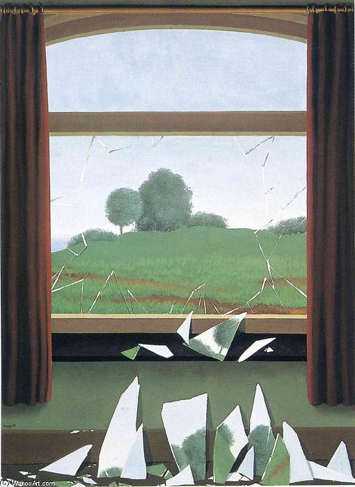 famous painting The Key to the Fields of Rene Magritte