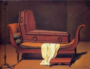 Rene Magritte - Perspective: Madame Recamier by David
