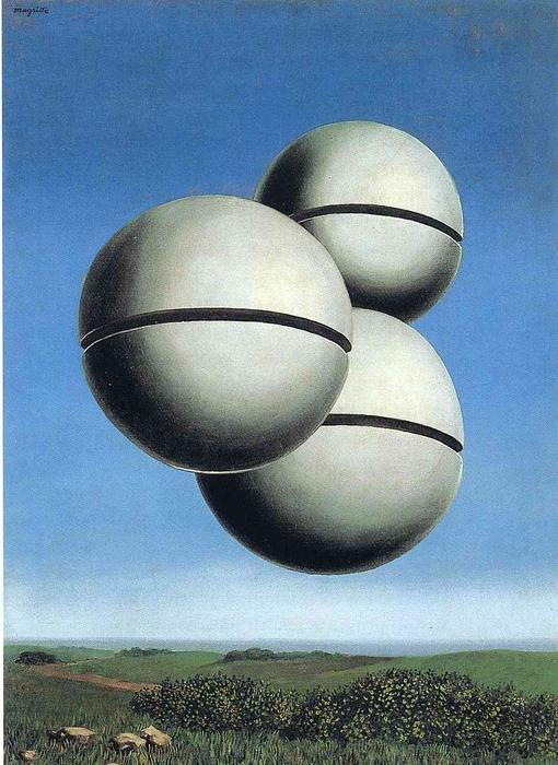 famous painting The voice of space of Rene Magritte