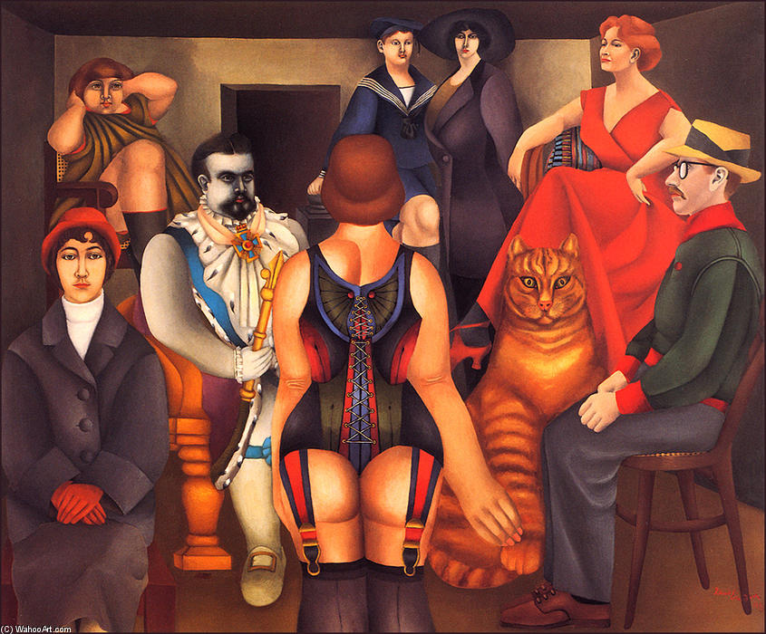 famous painting The Meeting of Richard Lindner