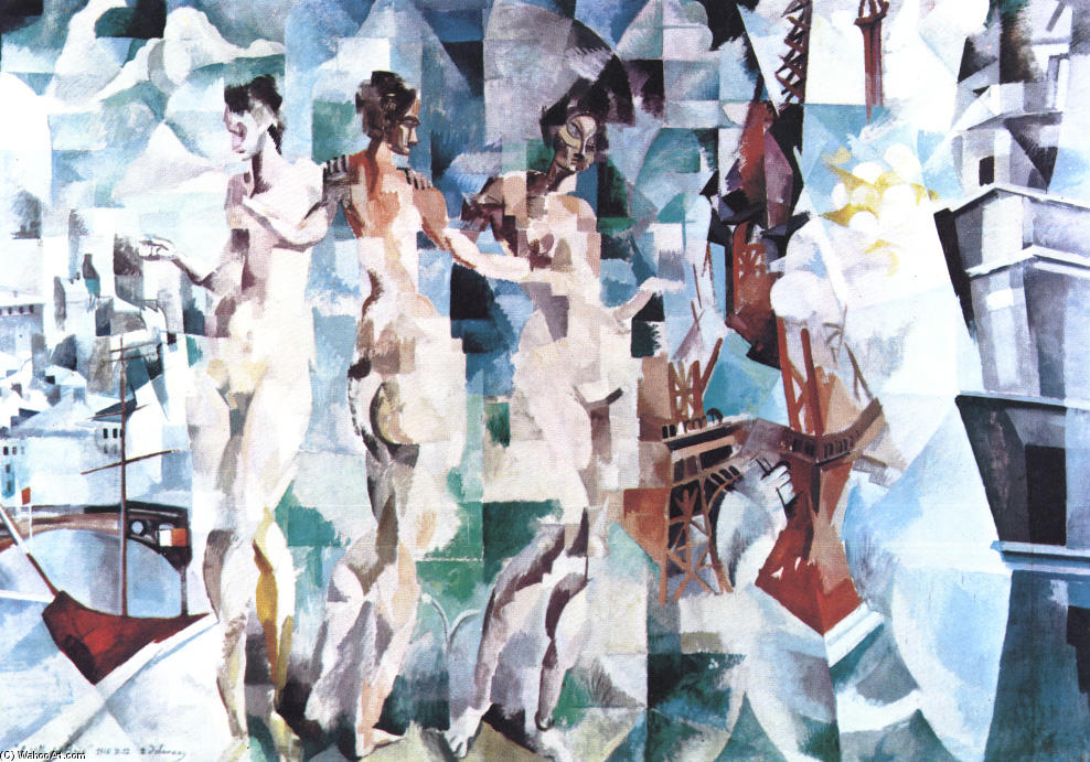 famous painting The City of Paris of Robert Delaunay